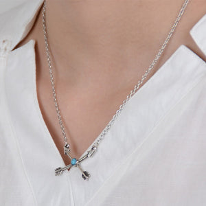 Zeynep Boho Arrow Cross Necklace