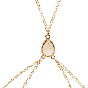 Heart Eyes body chain - gold