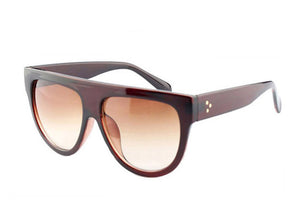 Amaro Flat Top Gradient Sunglasses-Brown Lens / Tea Frame