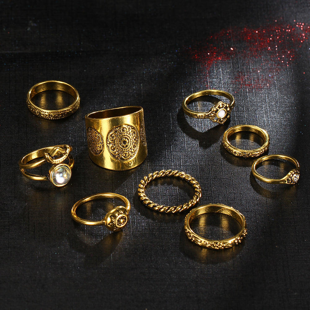 Bianka Gypsy Ring Set-Gold