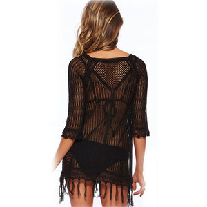 bahama mesh cover up black