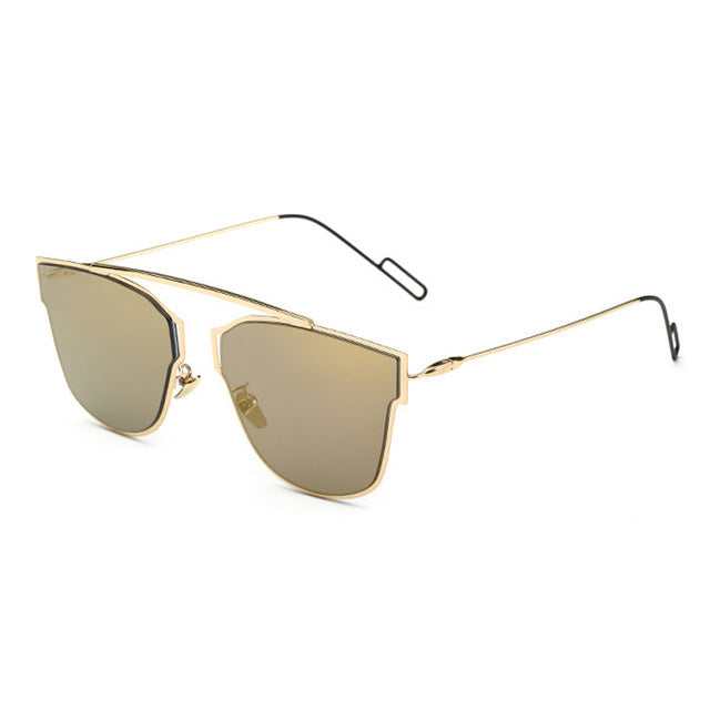 Yuuna Colored Mirrored Sunglasses-gold