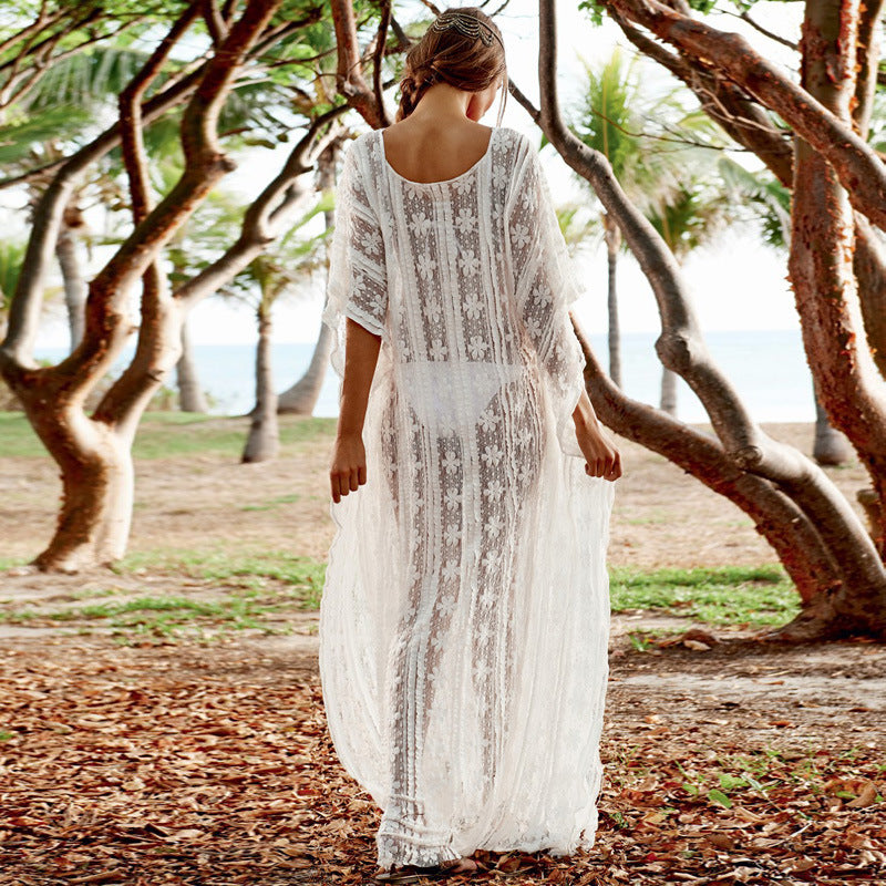 Steliss Long Sheer Cover Up-White