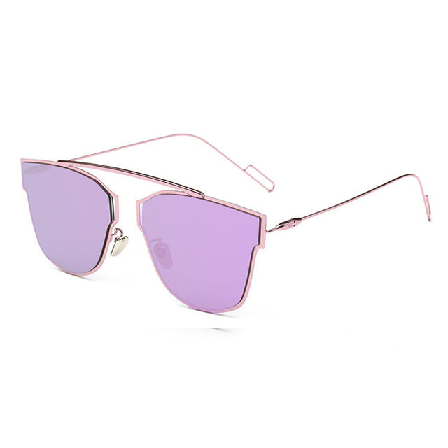 Yuuna Colored Mirrored Sunglasses-purple