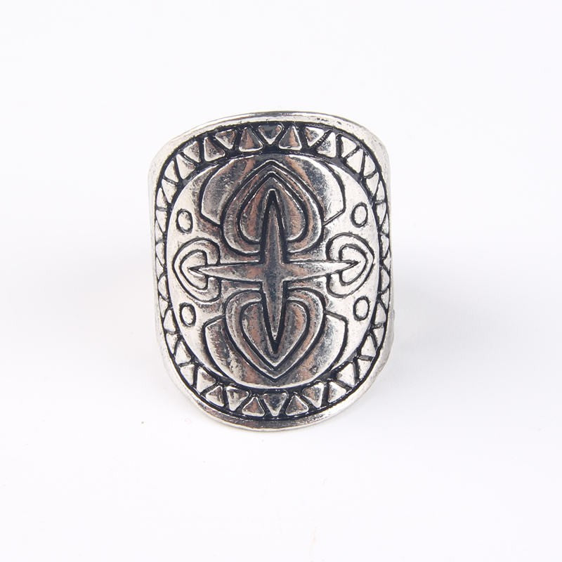 Tahe Silver Mandala Ring Set