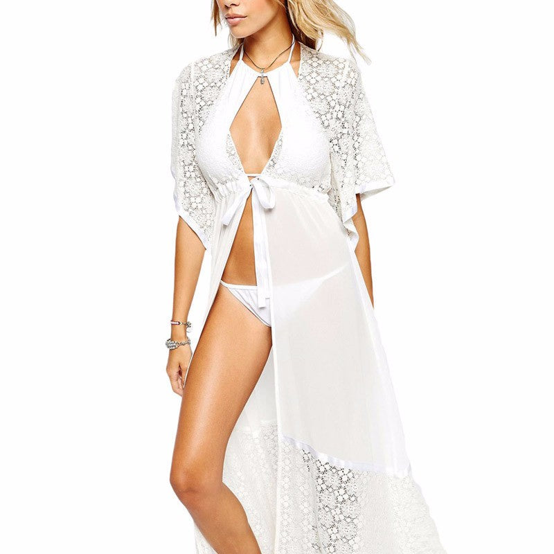Pelican Sands Lace Cover Up-White