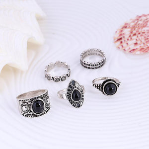 Raysha Turkish Ring Set-Silver