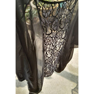Serenity Black Lace Beach Cover Up