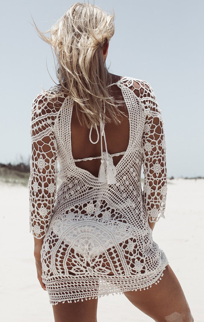 Paloma Crochet Beach Dress