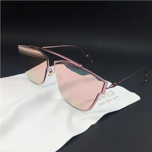 Yuuna Colored Mirrored Sunglasses-pink