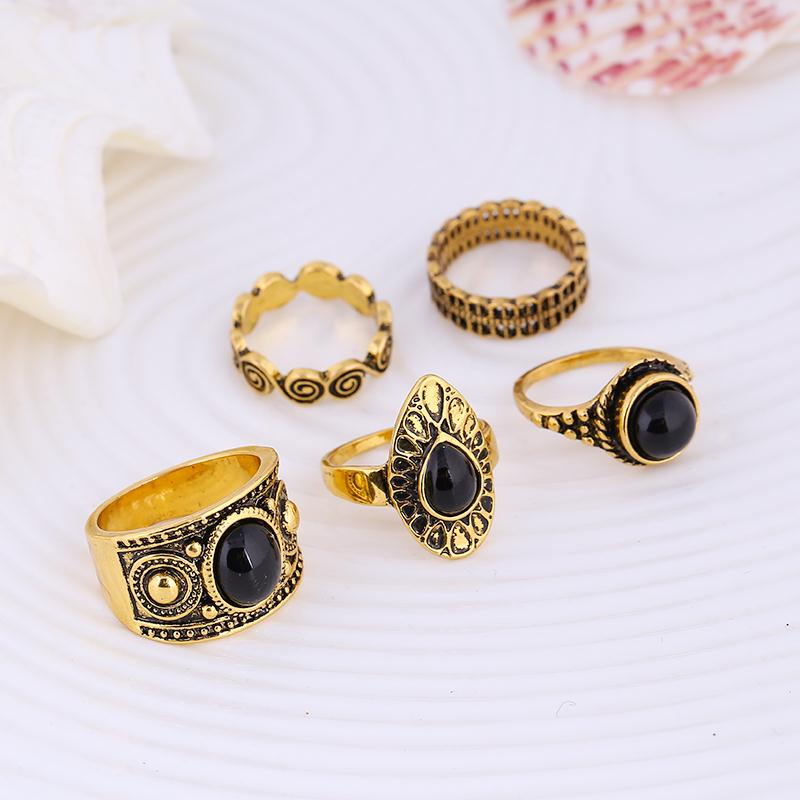 Raysha Turkish Ring Set-Gold