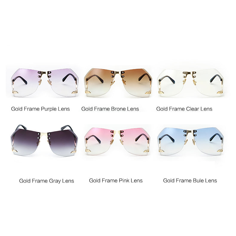 Tye Oversized Rimless Sunglasses