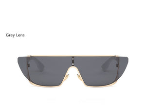 Fashionista Wrap Around Sunglasses-Grey Lens / Beige Frame