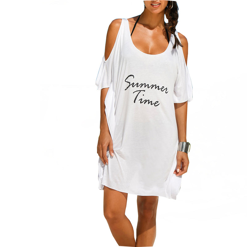 Summer Time Beach Cover Up-White