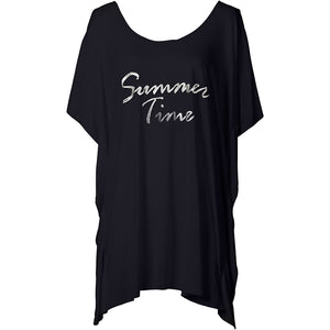 summer time black t shirt cover up