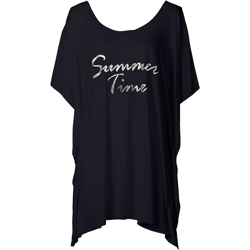 Summer Time Beach Cover Up-Black
