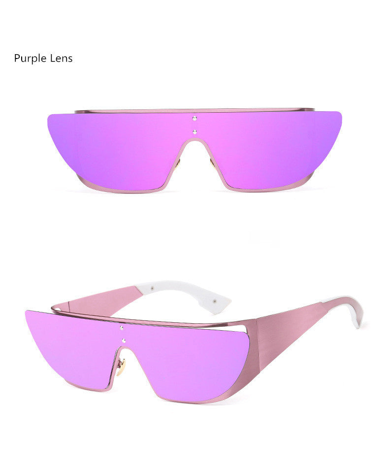 Fashionista Wrap Around Sunglasses-Purple lens / Purple Frame