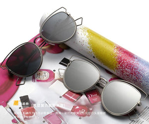 Tamzen Reflective Cat Eye Sunglasses