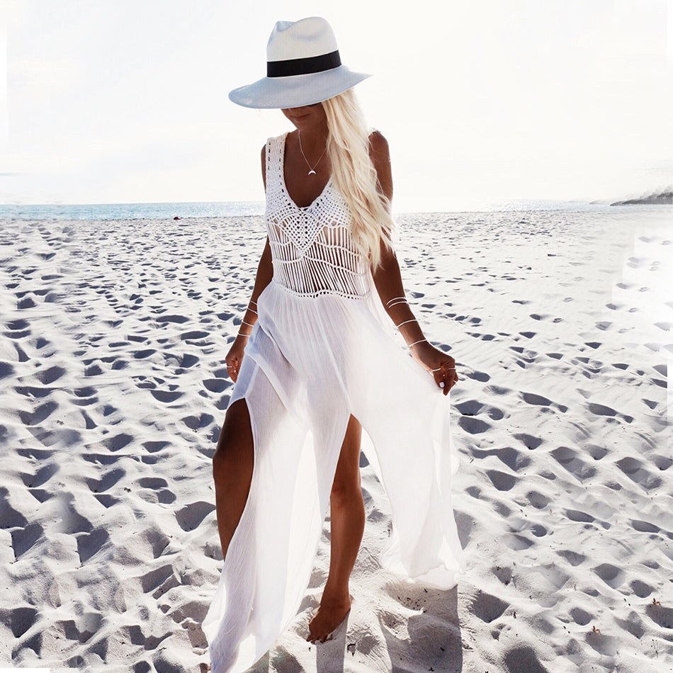 long white beach dress