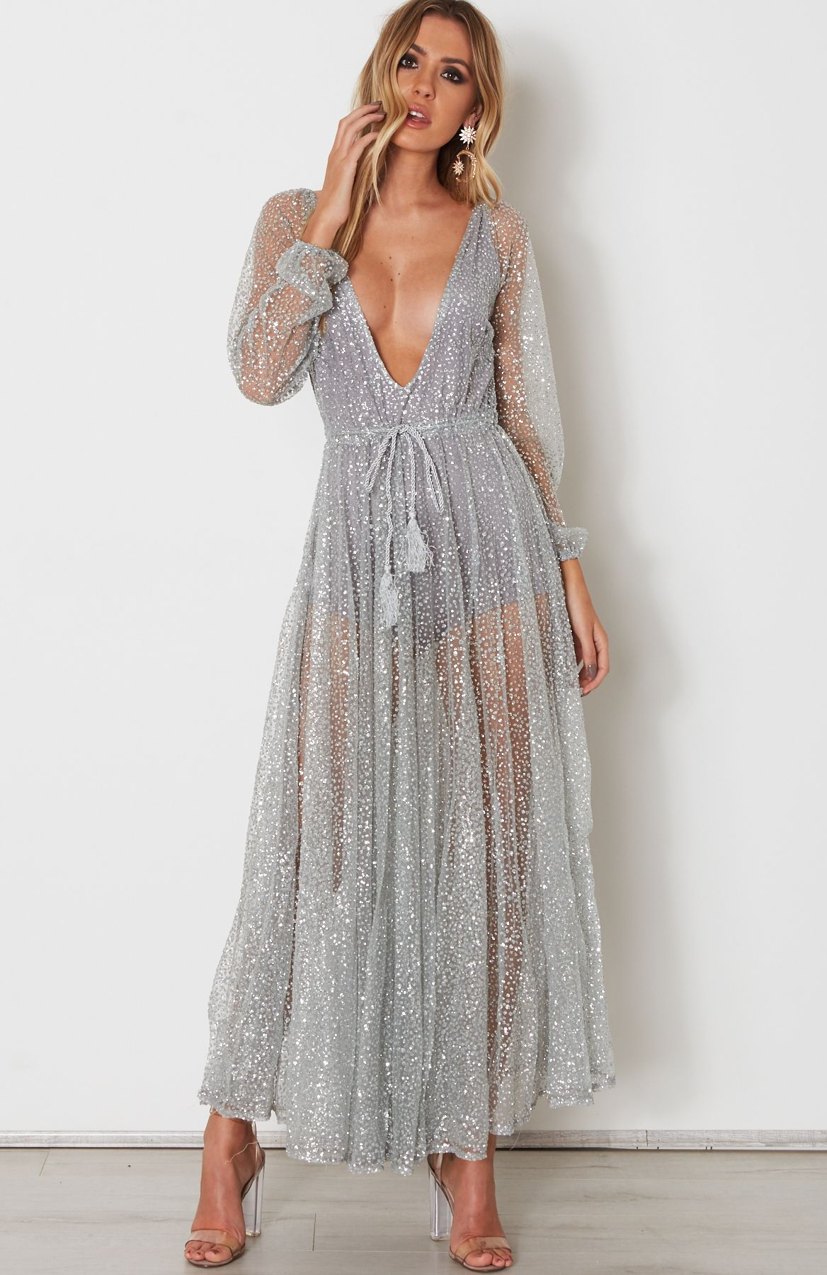 b4bfa579437f Chiffon dress in gold or silver - Ailani – Beachside Bunny