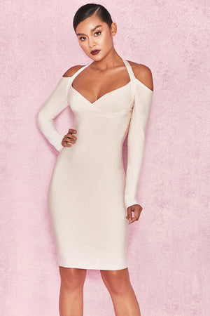 Banu White Bodycon Dress