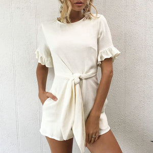 beige romper dress