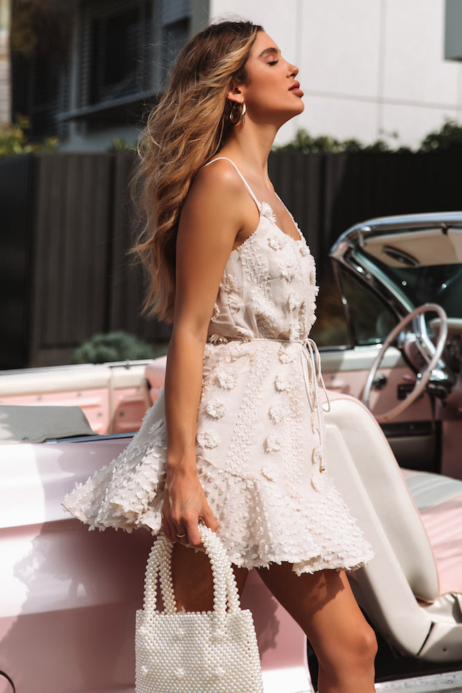beige summer dress