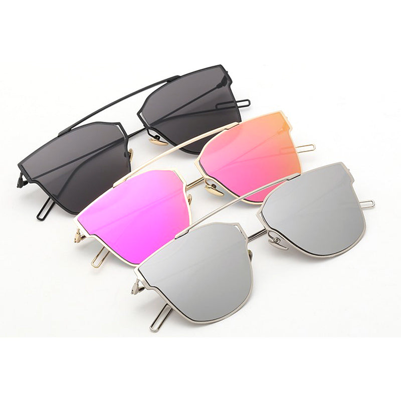Yuuna Colored Mirrored Sunglasses