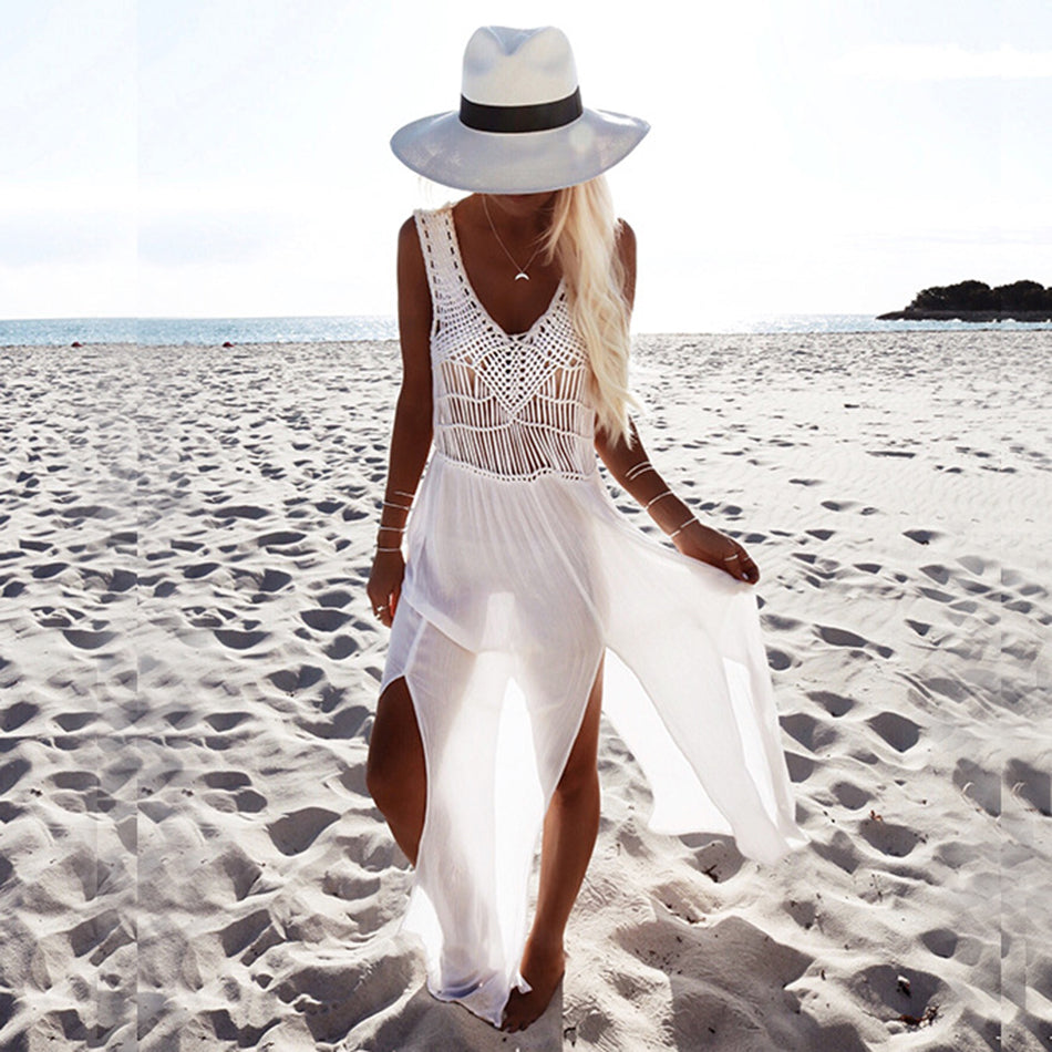 Waikiki Long White Beach Dress