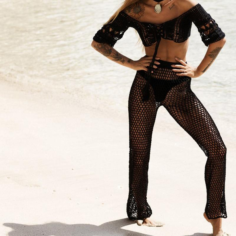 black beach pants