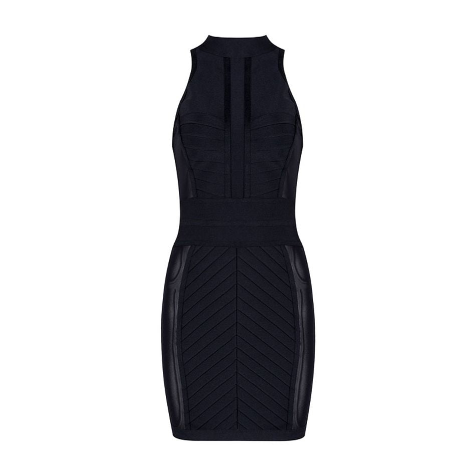 black bodycon bandage dress