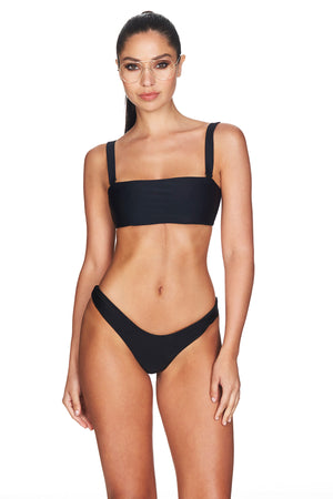 black high cut bikini