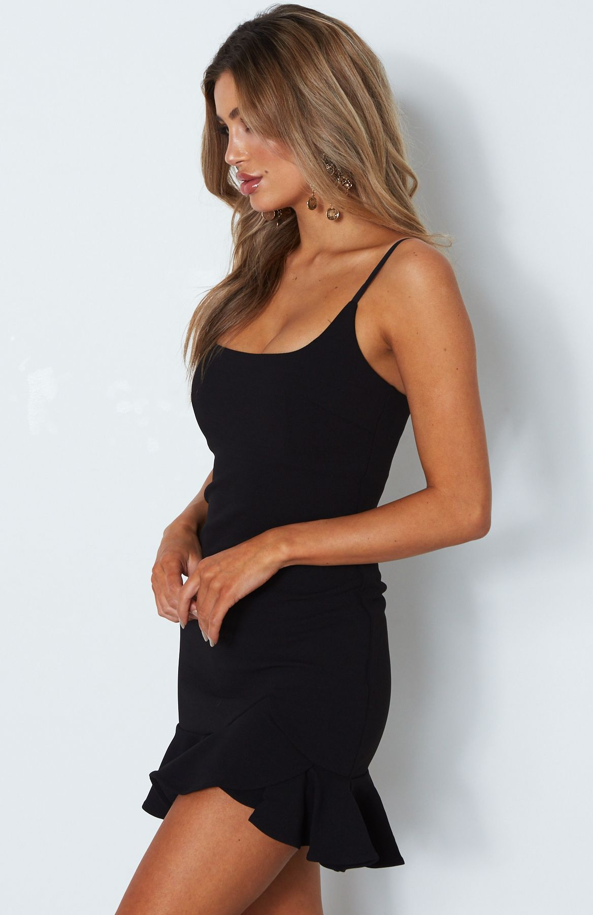 bodycon ruffle mini dress
