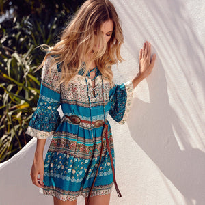 boho chic mini dress