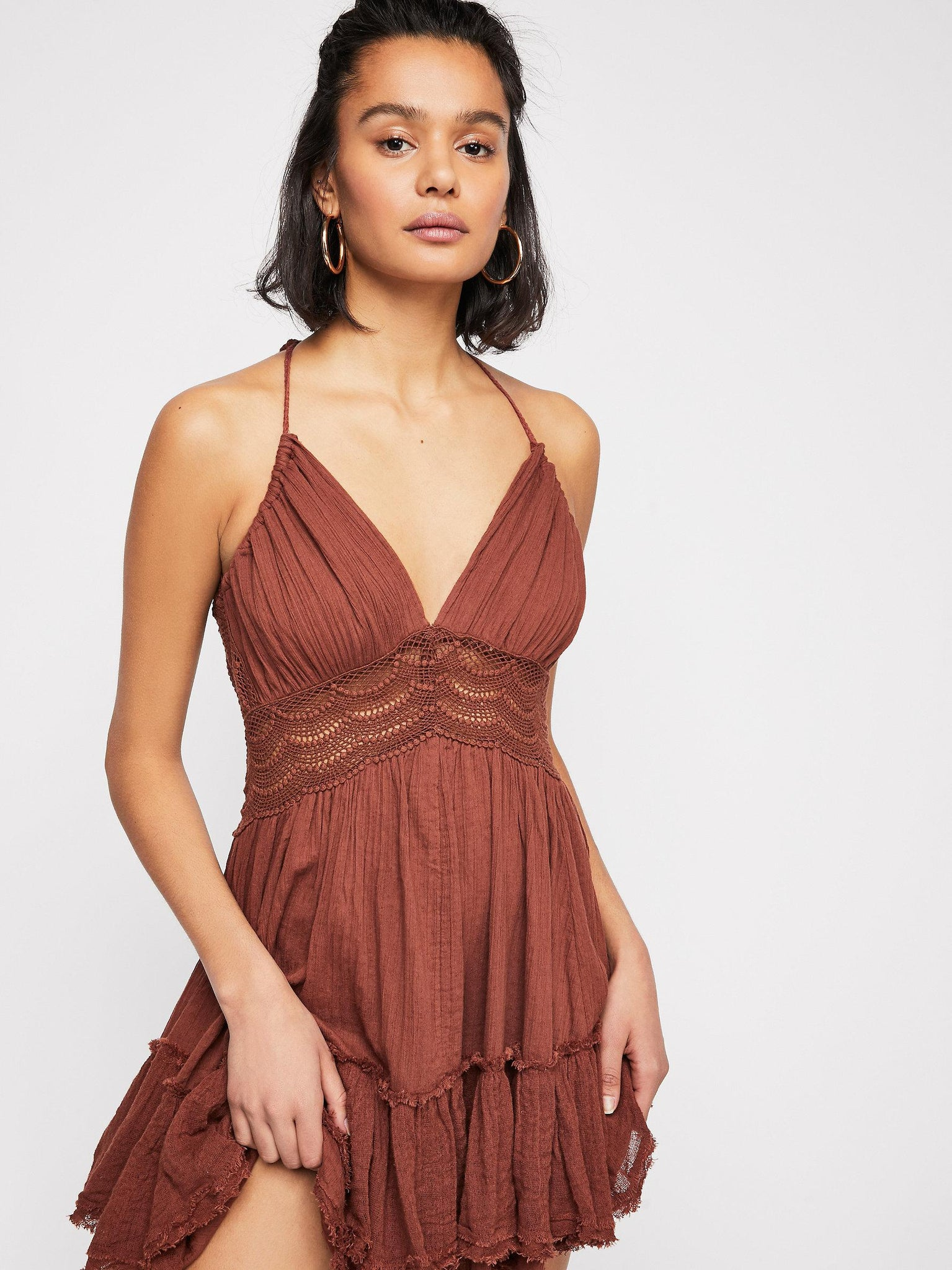 brown sundress