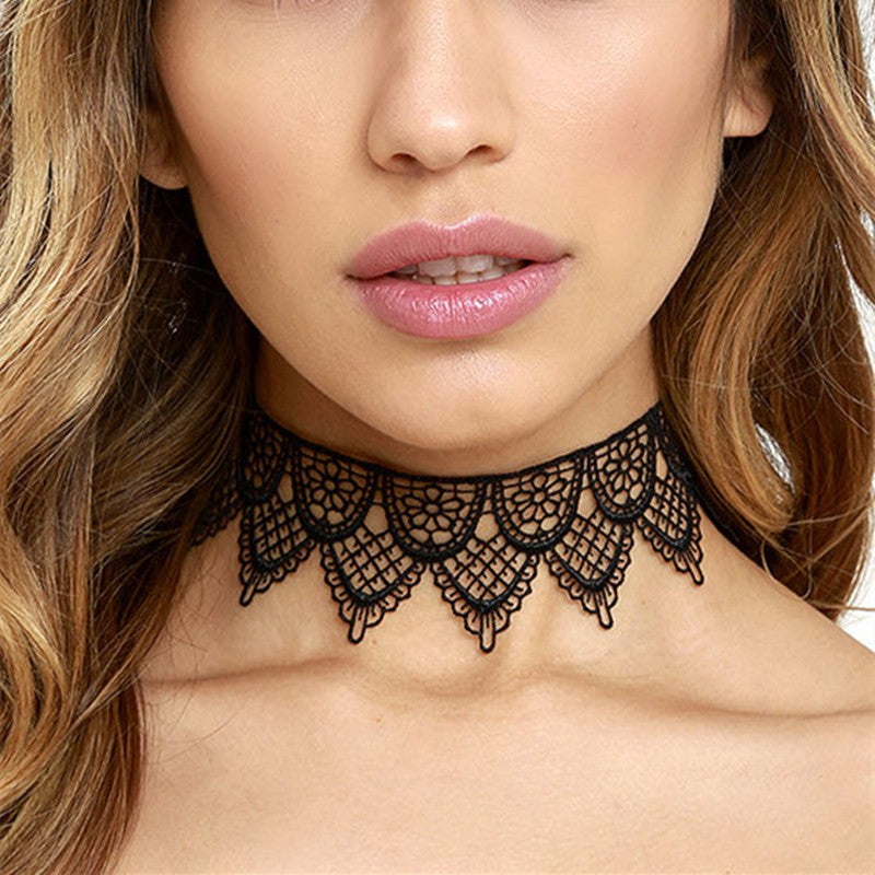 Taia Black Lace Choker