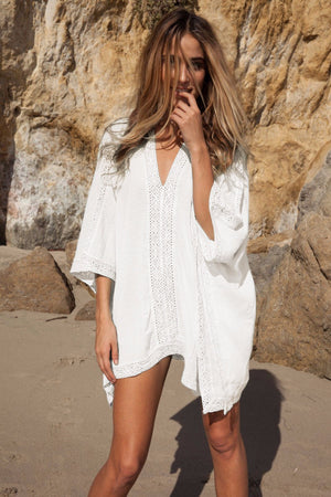 Sunrise Swimsuit Cover Up-White