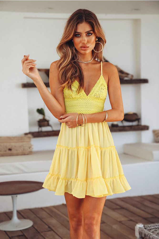 canary yellow sundress
