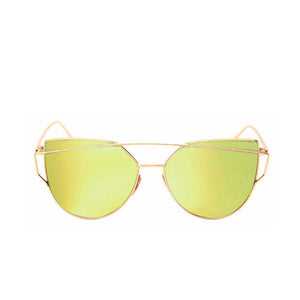 Celeste Cat Eye Mirrored Sunglasses