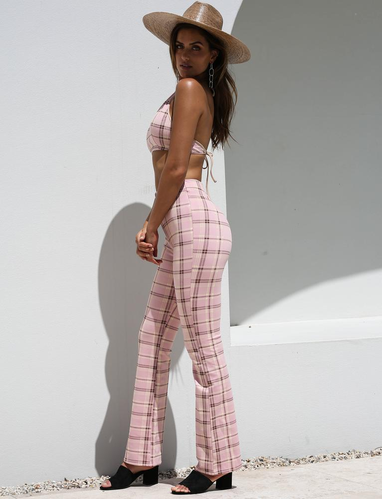 Sabrina Matching Crop Top And Pants Set