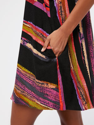colorful spaghetti strap mini dress