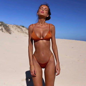 copper brazilian bikini