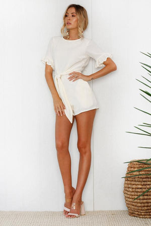 cream romper dress