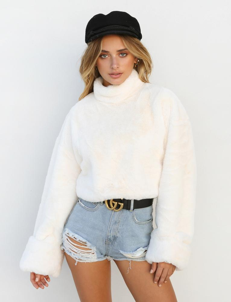 cream turtleneck sweater