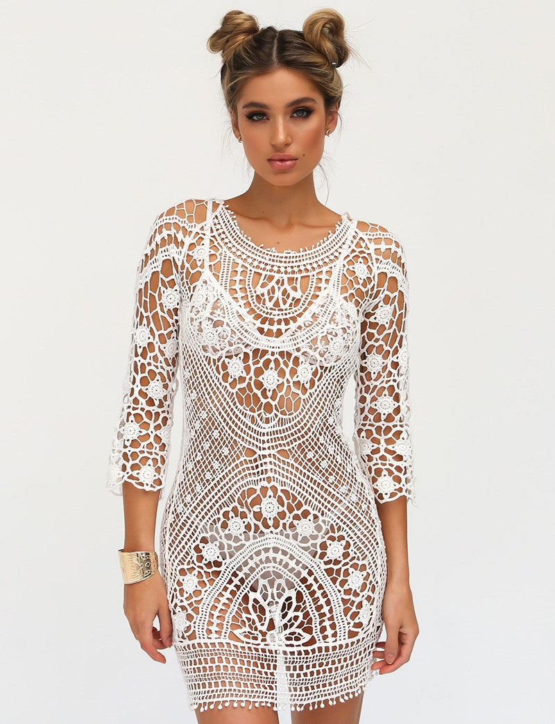 crochet beach dress