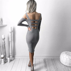 cutout shoulder dress
