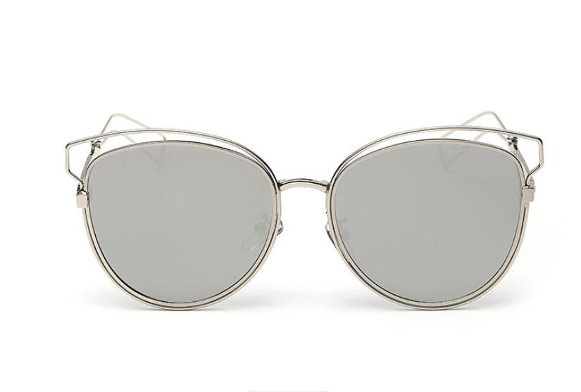 Tamzen Reflective Cat Eye Sunglasses-Grey Lens / Gold Frame
