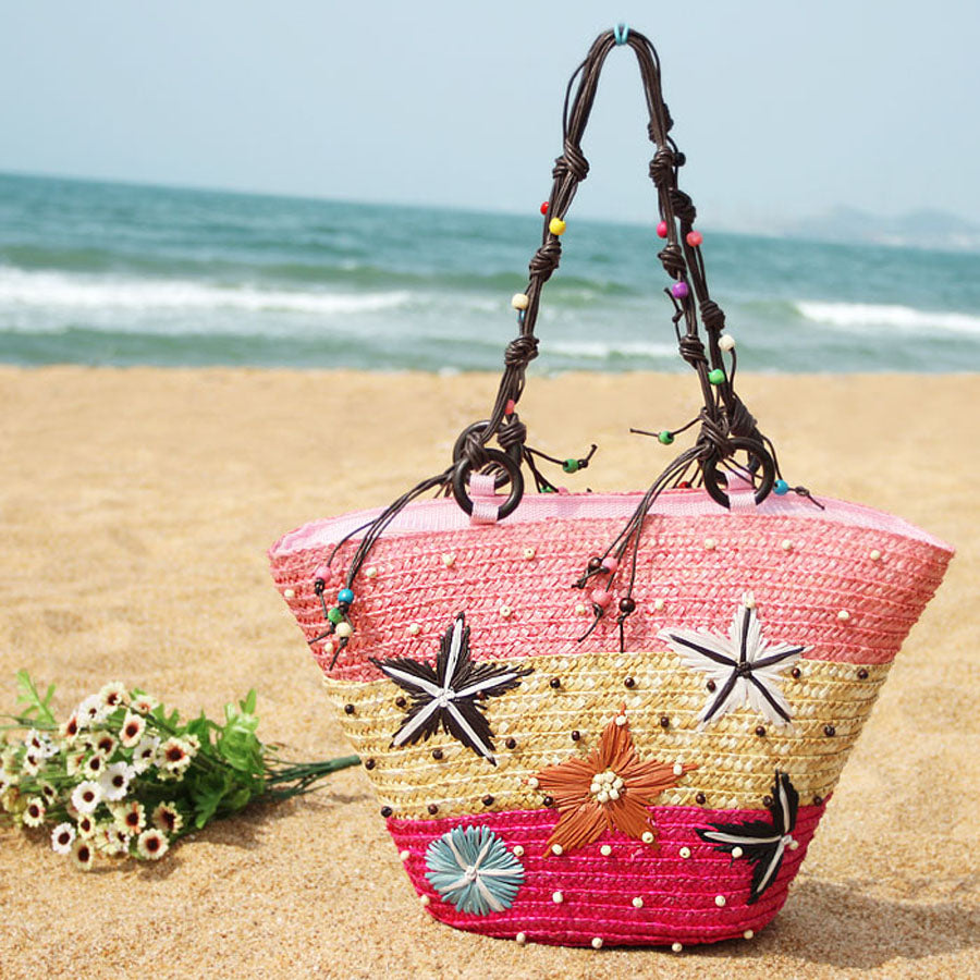 Starfish Beach Bag-Pink