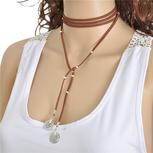 Hafsah Wrap Choker-Brown
