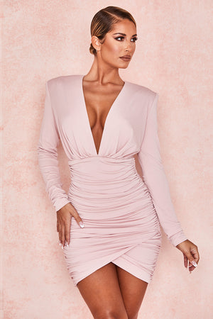 deep v long sleeve date night dress